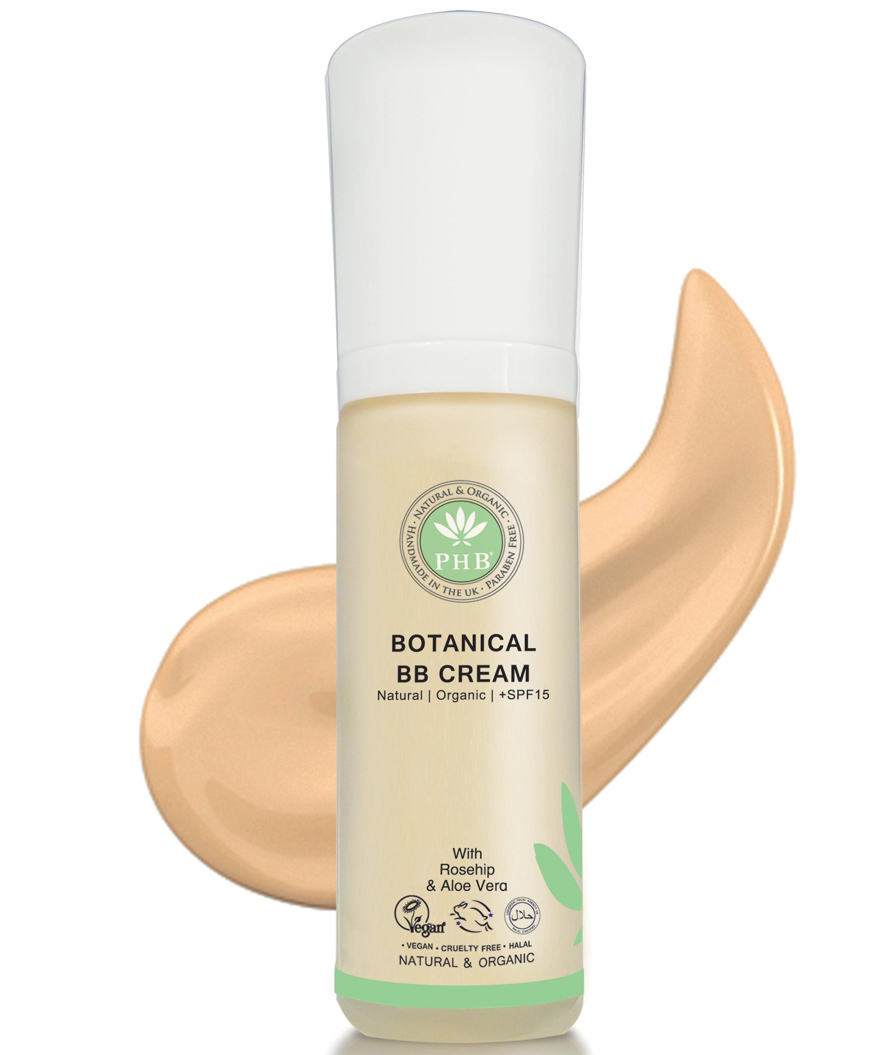 Phb Botanical Bb Cream Spf 15 Vegan Cruelty Free Halal Mineral Botanica All In One Aloe Vera For Skin Types Great Sensitive Acne Size 30g