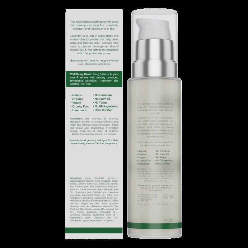 NEW Balance Face Wash | with Lavender & Salicylic Acid