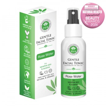 Gentle Facial Tonic with Organic Rose