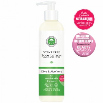 Scent Free Body Lotion with Olive & Aloe Vera
