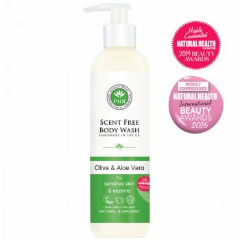 Scent Free Body Wash with Olive & Aloe Vera