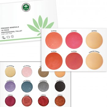 PHB Pressed Minerals 18 Piece Professional Palette