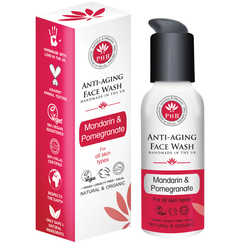 Facial cleanser for mature skin